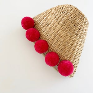 Image of Summer Pom Straw Purses