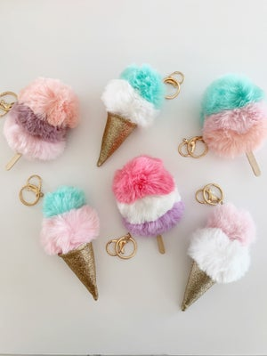Image of Ice Cream + Popsicle Keychains