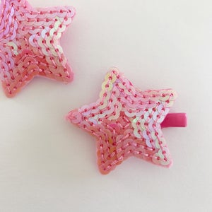 Image of Pink Sequin Star Clip