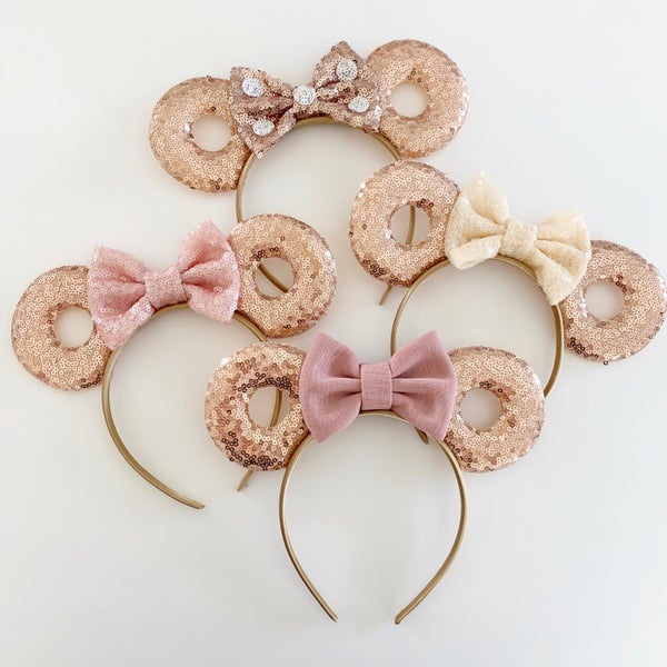 Image of Rose Gold Donut Mouse Ears