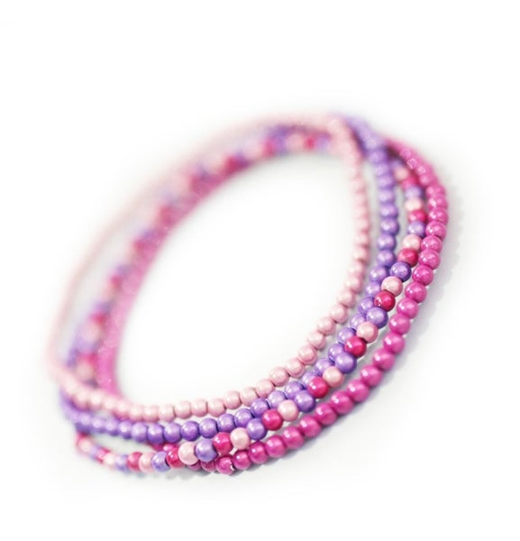 Image of 4mm Glow Bead Anklet - Adult