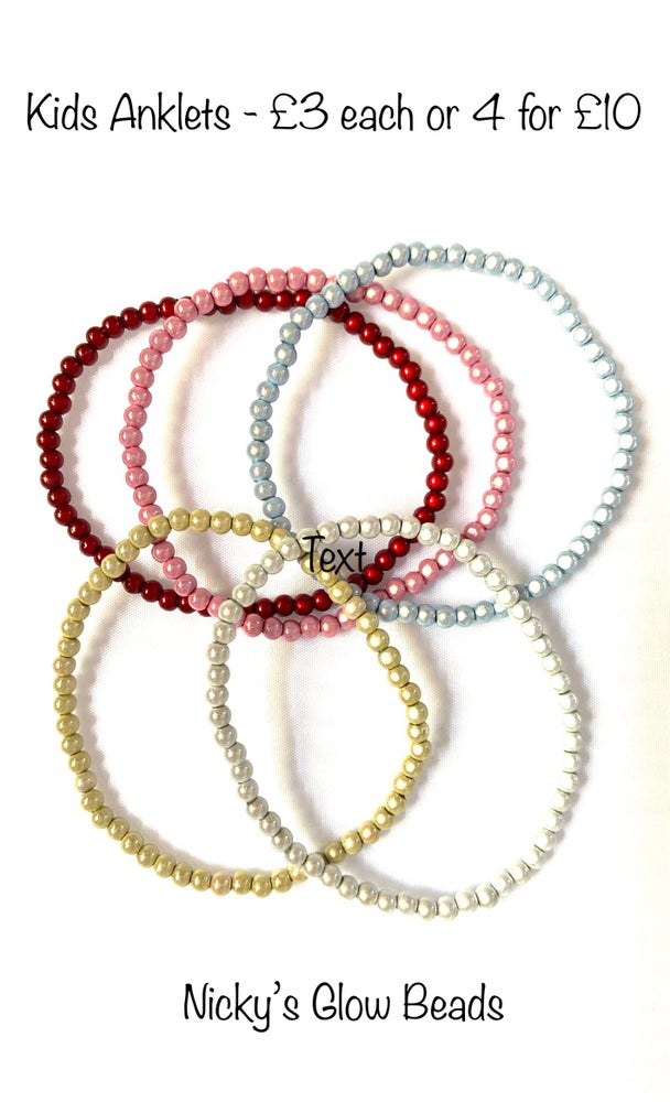 Image of Glow Bead 4mm Anklet - KIDS