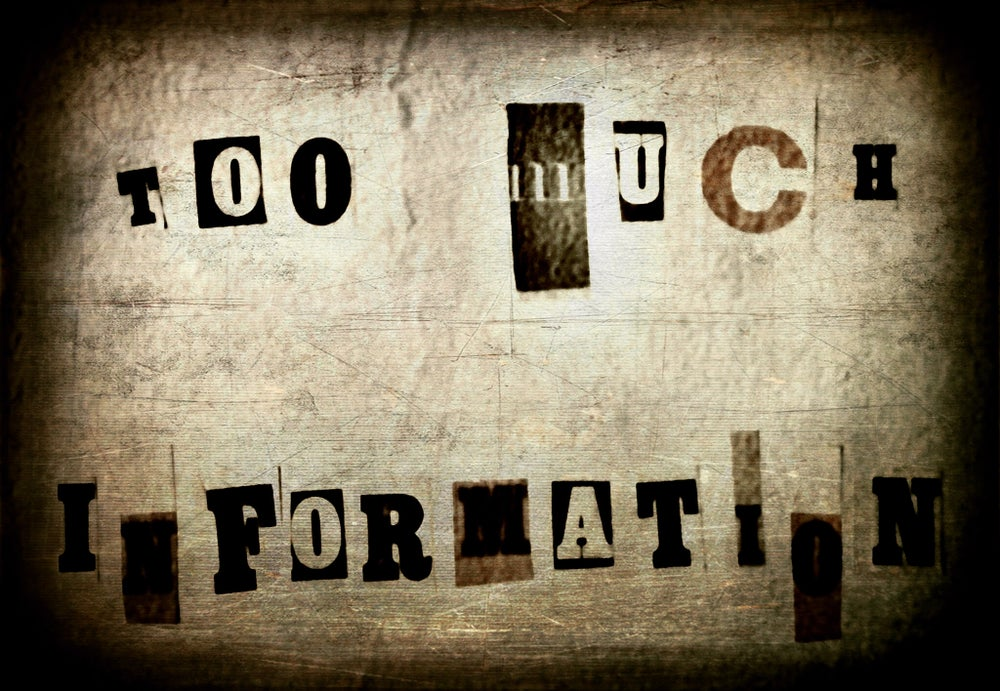Image of Too Much Information Book COMBO