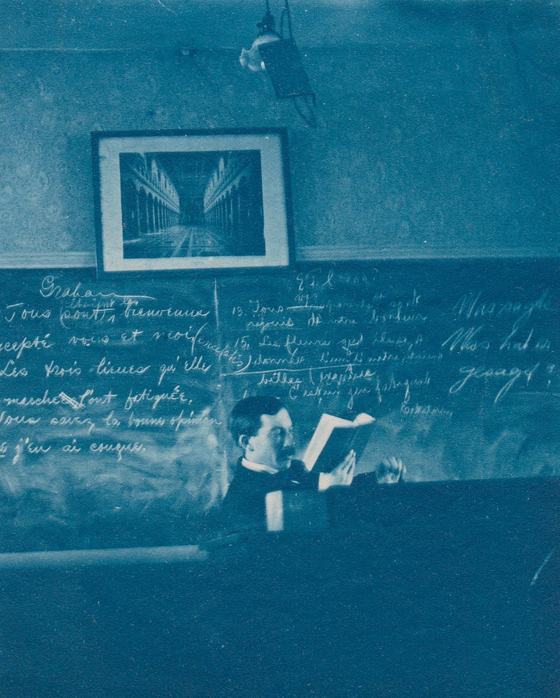 Image of Anonymous: cyanotype of teacher, ca. 1890