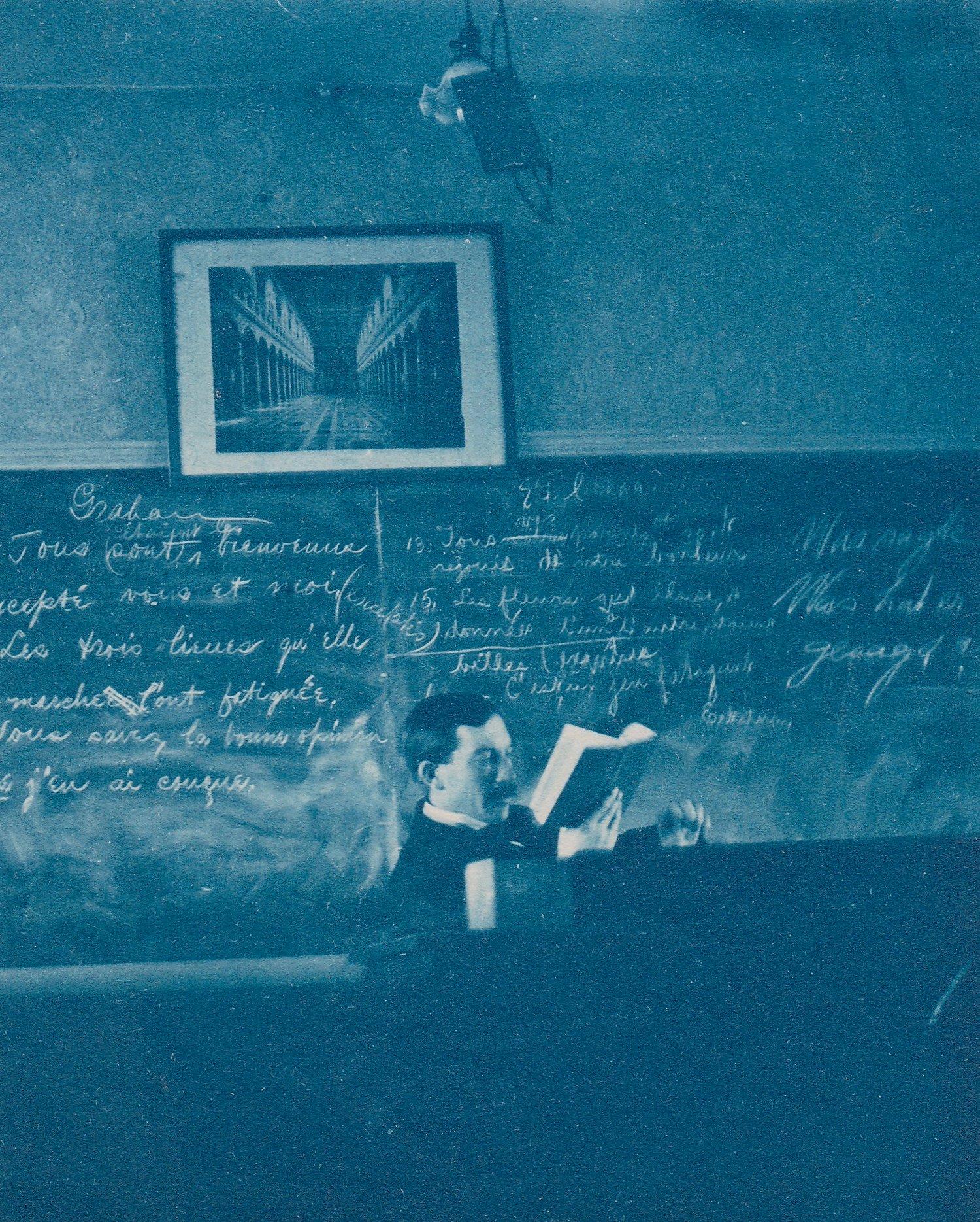 Image of Anonymous: cyanotype of teacher, ca. 1890