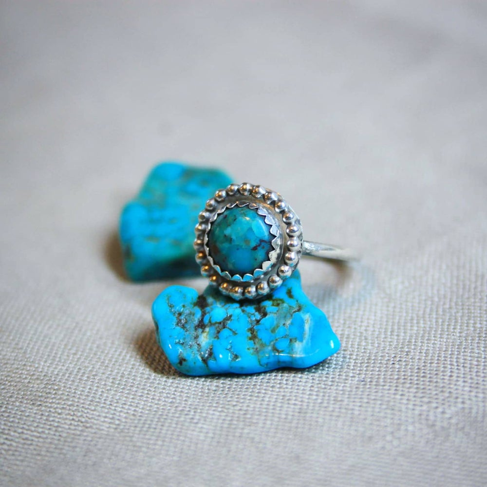 Image of Turquoise Bohemian Sterling Silver Ring