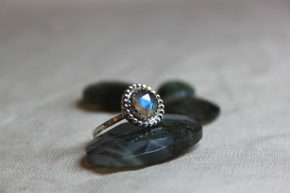 Image of Canadian Labradorite Bohemian Sterling Silver Ring
