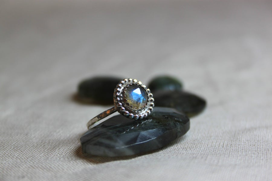 Image of Canadian Labradorite Bohemian Sterling Silver Ring