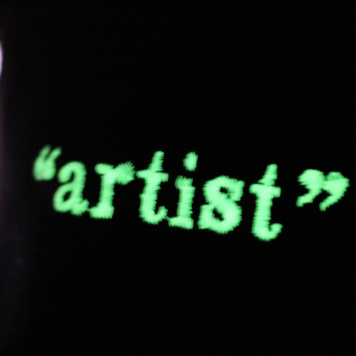 "Image of TIE DIYE ""artist"" TEE - GLOW IN THE DARK PURPLE - Friends & Family"