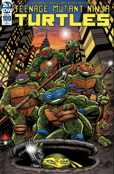 Image of Teenage Mutant Ninja Turtles #100 Cover by DAVE GARCIA (Limited to 400 copies)