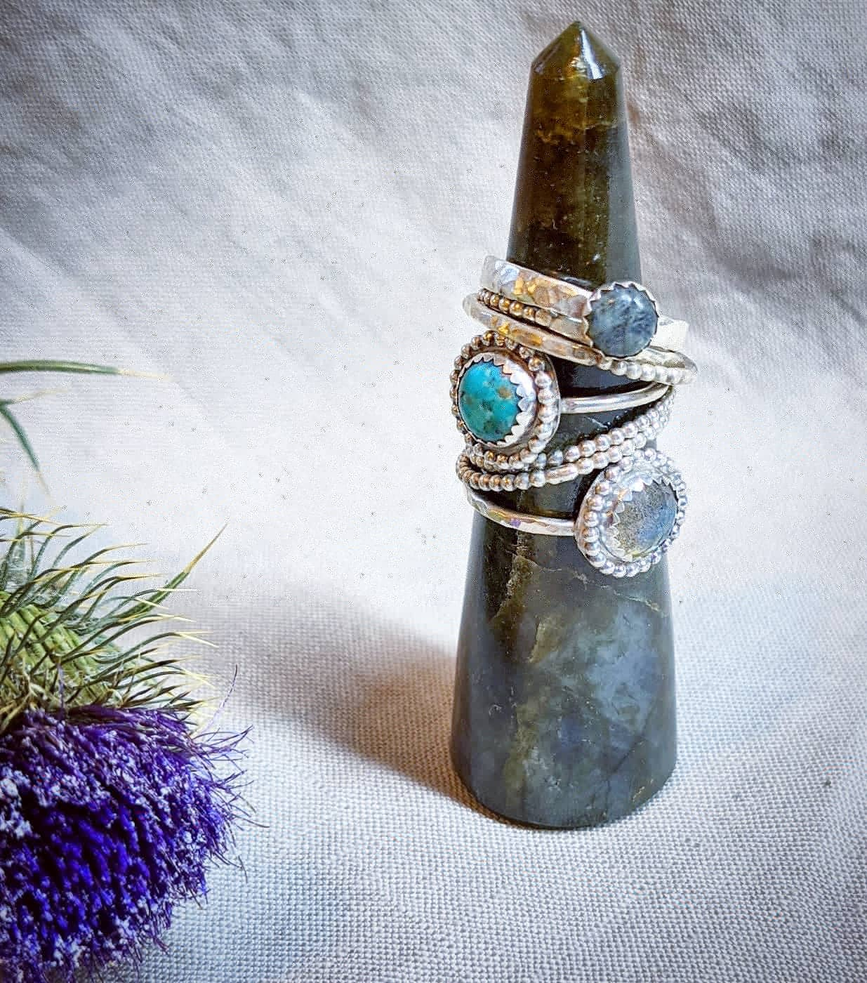 Image of Beaded Stacker Ring