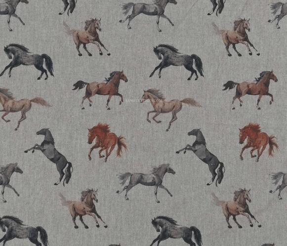 Image of Horses Digital Linen Shade