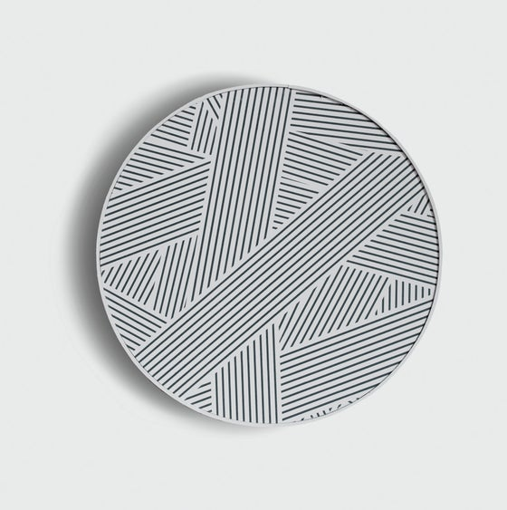 Image of Framed Oblique print (liquorice) by Custhom
