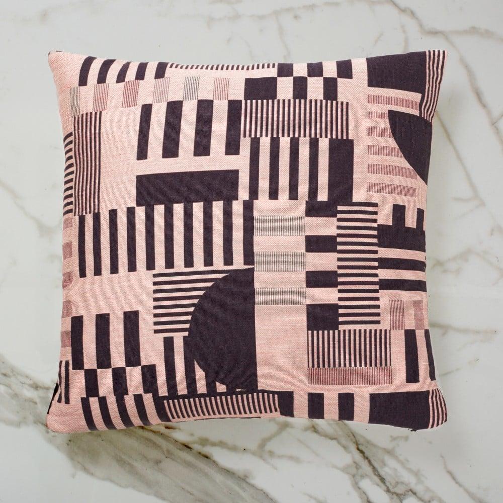 Image of Hayward woven day cushion (Aubergine) by Custhom