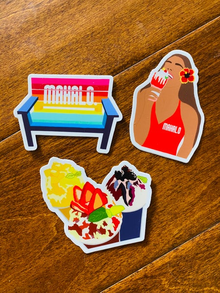 Image of LIMITED ALOHA 3 sticker pack