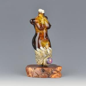 Image of XXL. Maple Goddess - Flamework Glass Sculpture Bead