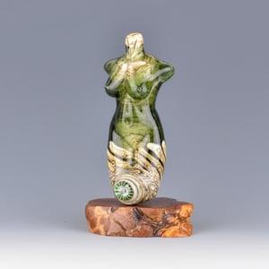 Image of XXL. Eel Grass Goddess - Flamework Glass Sculpture Bead