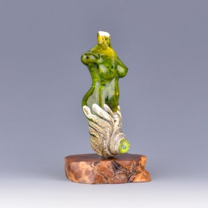 Image of XXL. Lemongrass Goddess - Flamework Sculpture Bead