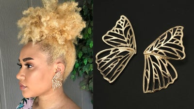 Image of Gold Butterfly Earrings