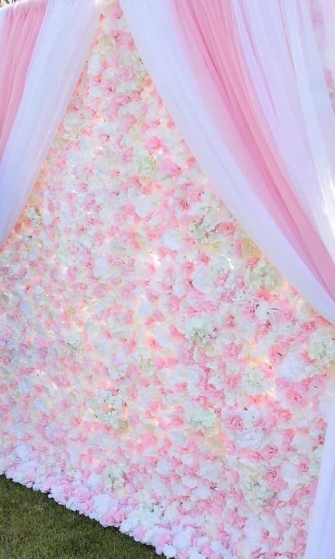 Blush floral wall