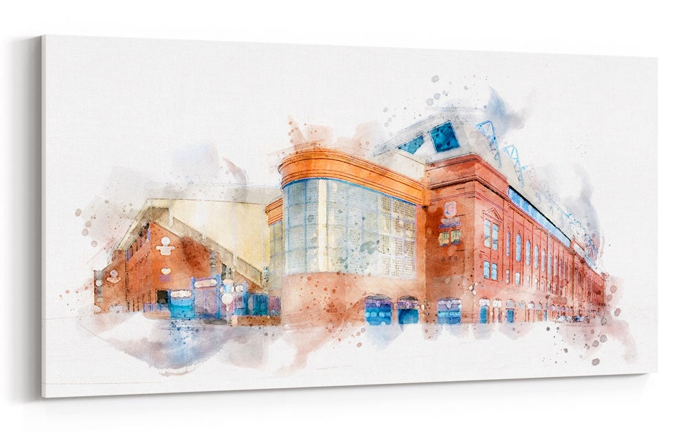 Image of Ibrox in Watercolour