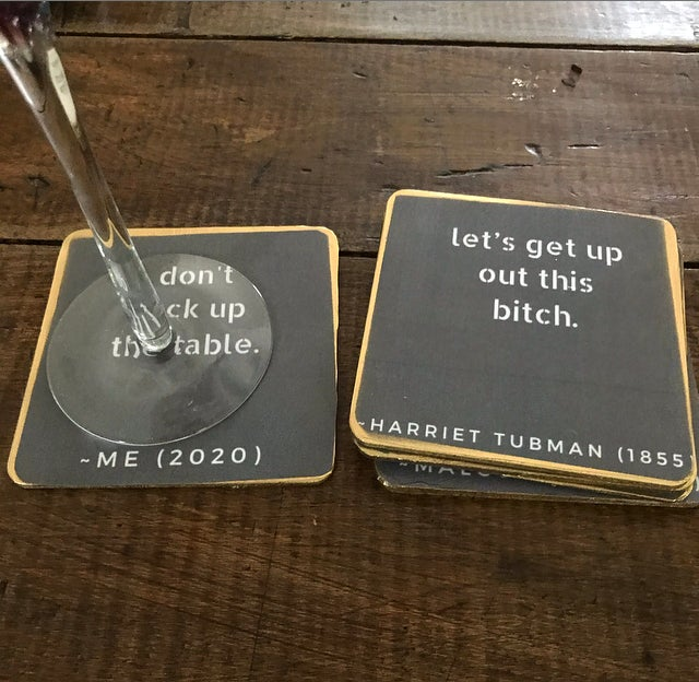 Image of The Real Black History Coasters (Wood)