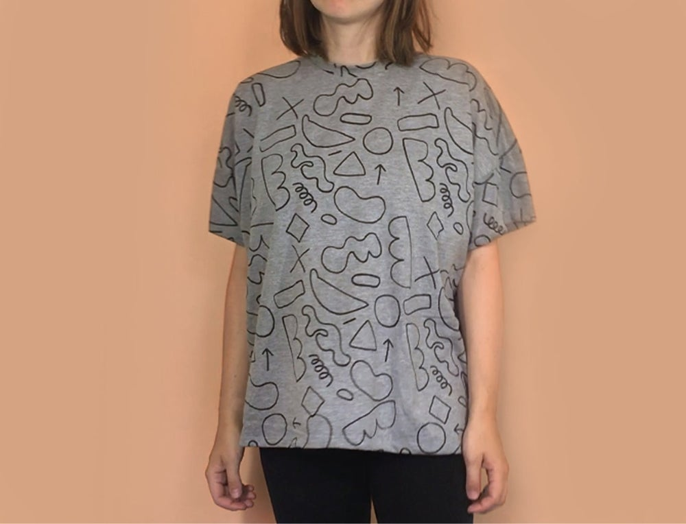 Image of GREY UNISEX TSHIRT / screenprint