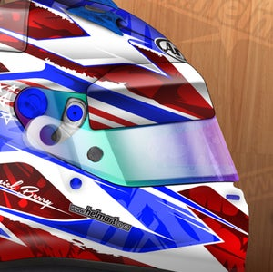 Image of Custom Rendered Helmet Design