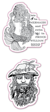 Dan and Mermaid Stickers