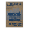 Little House letterpress print