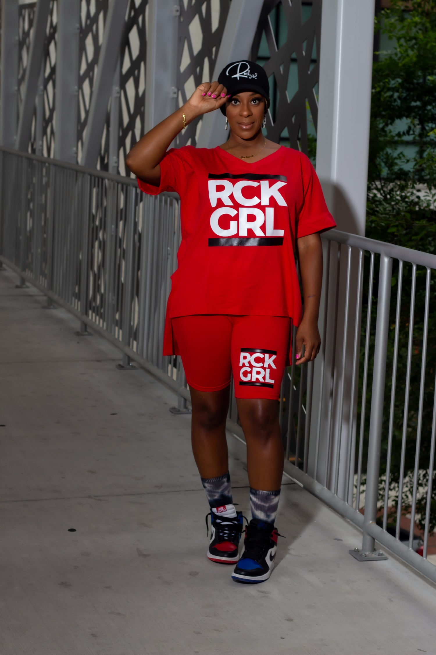 Image of 'RCK DMC' Biker Short Set (S-L)