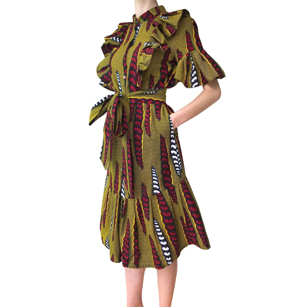 Image of African Shirt dress