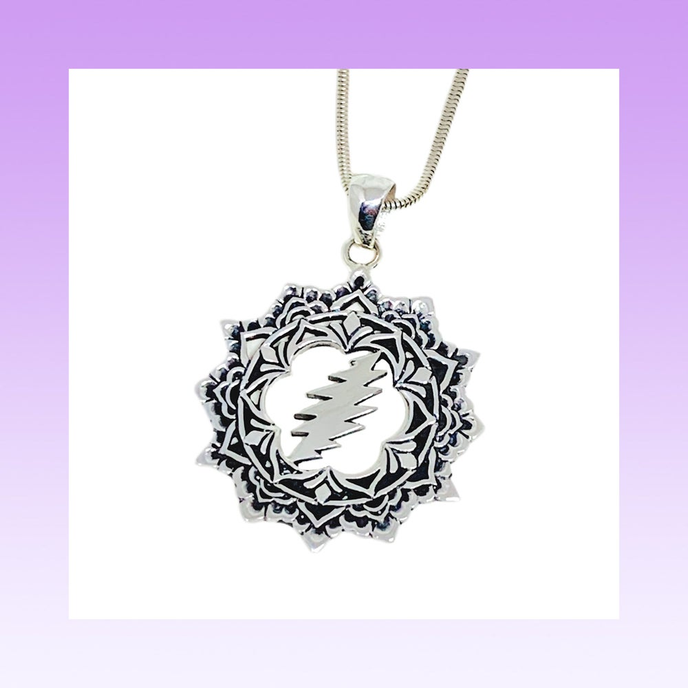 Image of The Lotus Pendant Cast in Sterling Silver