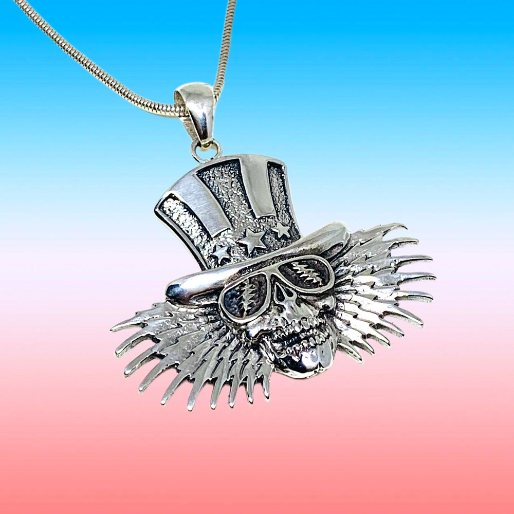 Image of Uncle Sam Pendant on Sterling Silver Chain