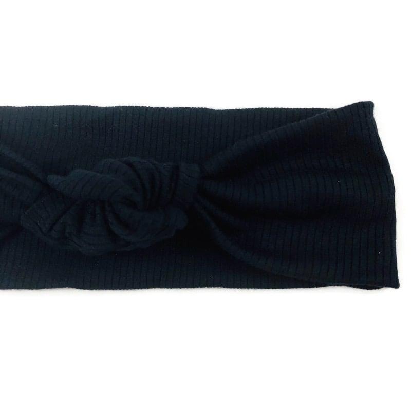 Image of Onyx Knotted Headband