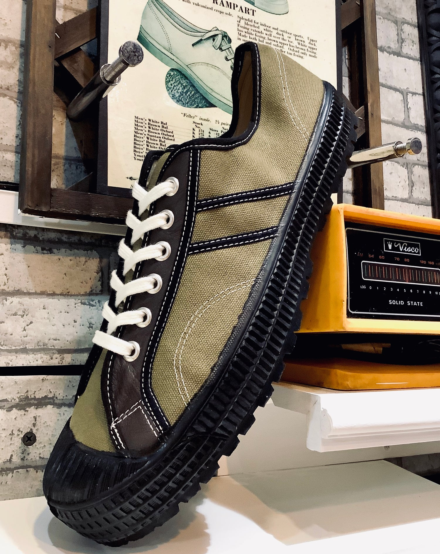 Image of VEGANCRAFT hiker canvas+ leather Lo top sneaker shoes made in Slovakia