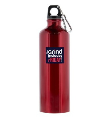 Image of 26 oz. Custom TGIF Aluminum Water Bottle