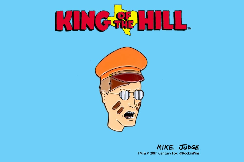 Image of King of the Hill - Dale Gribble Rabies Head Enamel Pin