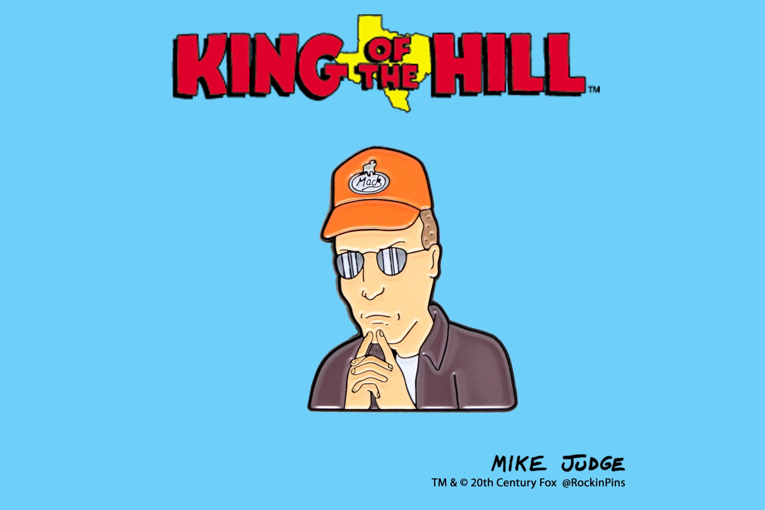 Image of King of the Hill - Pensive Dale Gribble Enamel Pin