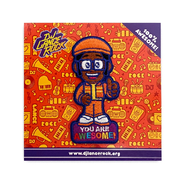 Image of DJ LANCE ROCK YOU ARE AWESOME IRON-ON PATCH