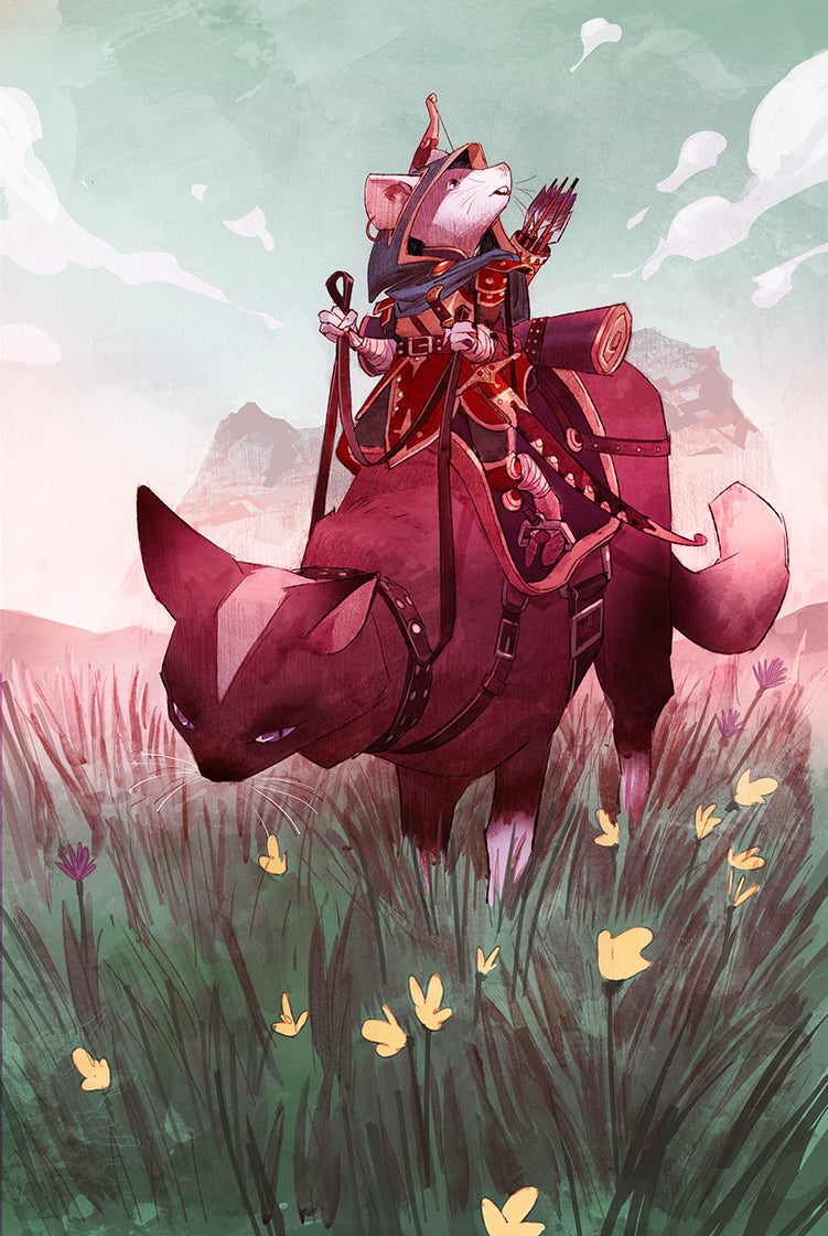 Image of Mouse Warrior A3 PRINT