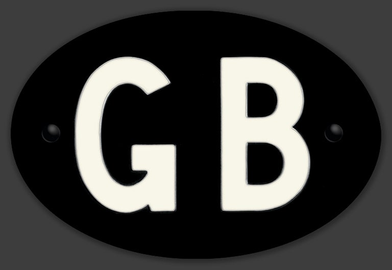 Image of Magnetic Clean GB badge Black 180x120mm