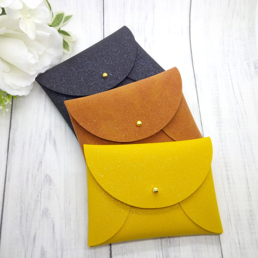 Image of Choose Your Colour Glitter Faux Suede Coin Purse