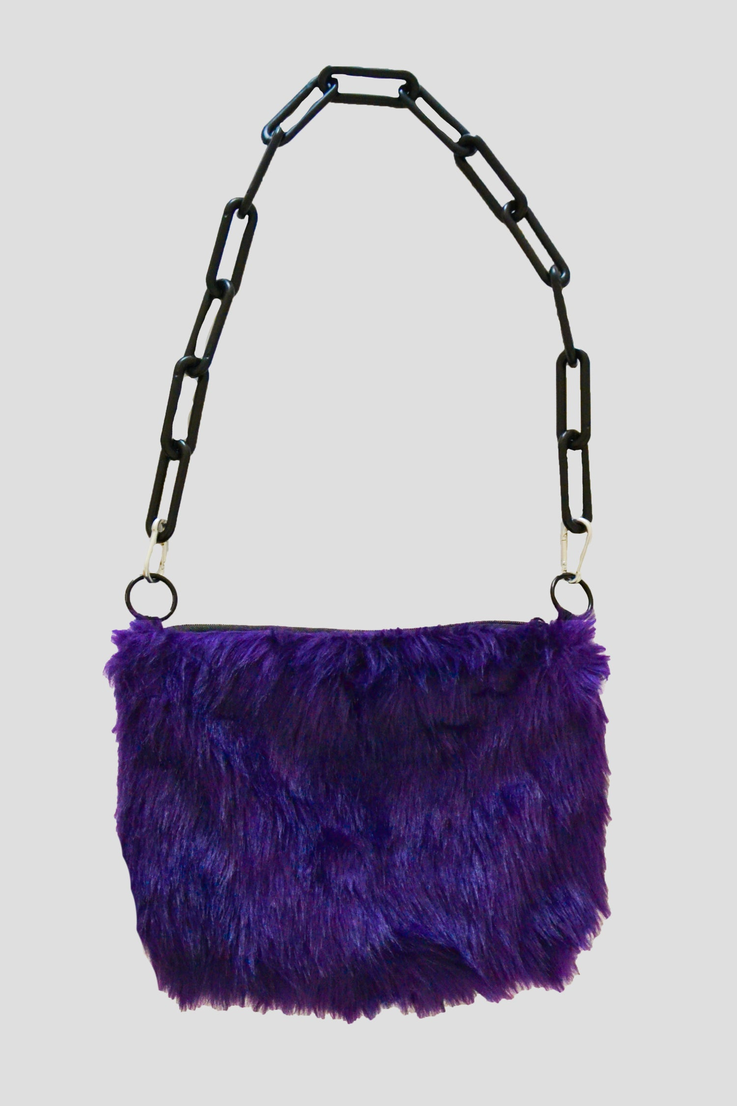 Image of fur monster purse