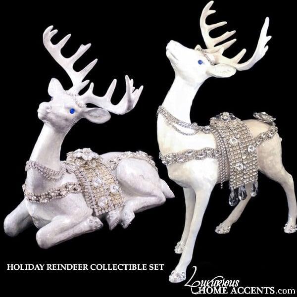Image of Reindeer Swarovski Crystal Figurine Collectible Set