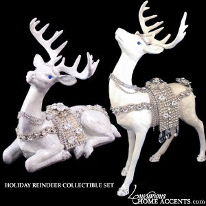 Image of Reindeer Swarovski Crystal Figurine Collectible Set