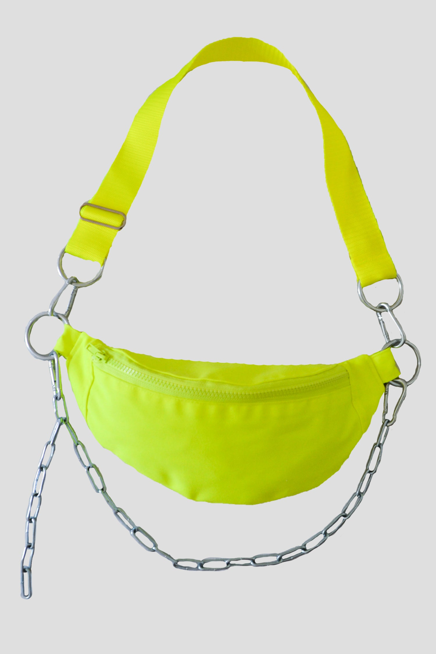 Image of neon chain fanny pack