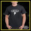 T-Shirt Fulmine Nera logo Bianco UOMO
