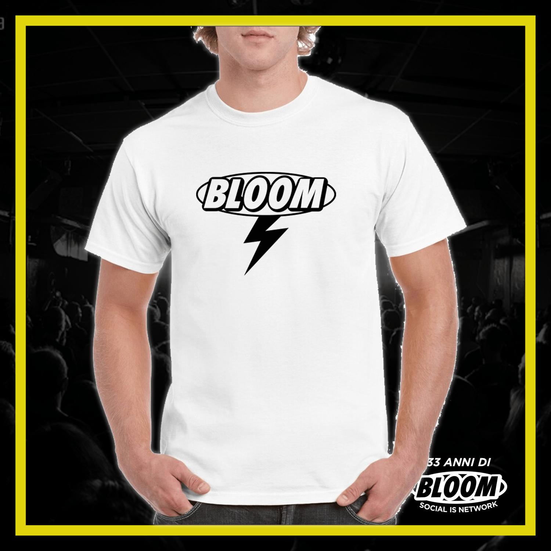 T-Shirt Fulmine Bianca logo Nero UOMO