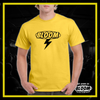 T-Shirt Fulmine Gialla logo Nero UOMO